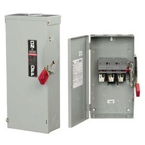 GE TH4325 Disconnect Switch, Fusible, 400A, 240VAC, 250VDC, 3P, NEMA 1
