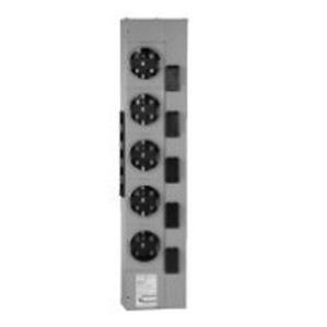 GE TMPR8612RF Meter Stack Module, 800A, 6 x 125A Socket, 1PH, Ringless, NEMA 3R