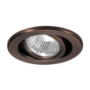 "WAC Lighting HR-837-BK Adjustable Trim, 3-7/16"", Gimbal Ring, Black"