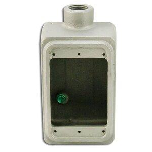 """Appleton FS150 FS Device Box, 1-Gang, Dead-End, Type: FS, 1/2"""", Malleable Iron"""