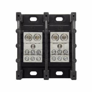 Eaton/Bussmann Series 16325-2 Power Distribution Block, 2-Pole, Double Primary - Multiple Secondary