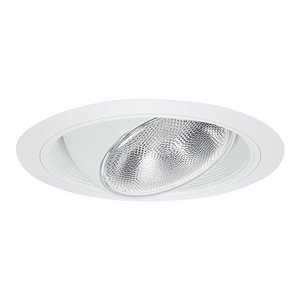 "Elite Lighting B609W-WH Regressed Eyeball Trim, with Baffle, 6"", White Baffle/White Trim"
