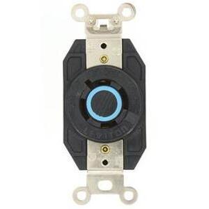 Leviton 2440 Locking Single Receptacle, 20A, 3PH Y 120/208V, 4P4W