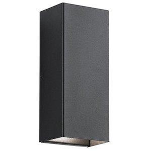 Kichler 49551BKTLED 2-Light LED Outdoor Wall Light, 16W, 1580L,3000K, 120V, Black