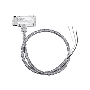 Lithonia Lighting DUP120PTTAP209GYSTRAPM8 9' Power Tee, 820 System, 120V, w/ Gray Duplex Tap2