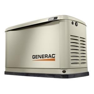 Generac 7031 Generator, Standby, 11kW, 120/240VAC, 50A, 1PH, LCD Display