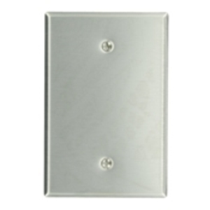 Leviton 84114 Blank Wallplate, 1-Gang, Stainless Steel, Oversize