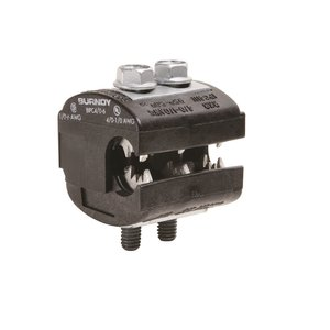 Burndy BIPC4/06 Insulation Piercing Connector, 1/0 - 4/0 AWG (Run), 6 - 1/0 AWG (Tap), 600V