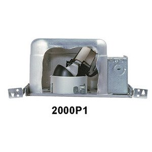 Lightolier 2000P1 Non-IC Housing, Incandescent, Frame-In Kit, 3-3/4""