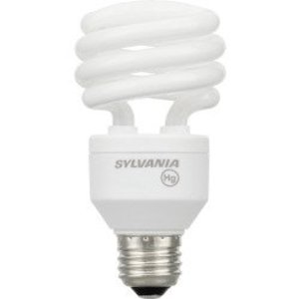 SYLVANIA CF23EL/SPIRAL/841 Compact Fluorescent Lamp, Spiral, 23W, 4100K, Medium Base