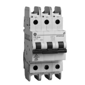 GE EP103ULH4C06 Breaker, Miniature, 3P, 6A, 277/480VAC, 10kAIC, DIN Rail Mount