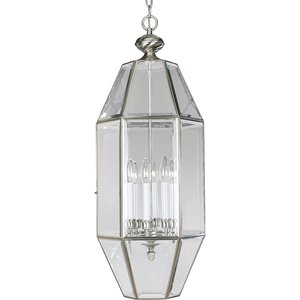 Progress Lighting P3779-09 Pendant, 6-Light, 60W, Brushed Nickel