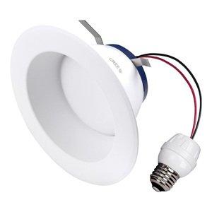 """Cree Lighting SRDL4-0572700FH-12DE26-1-11004S0 4"""" LED Downlight, 575L, 2700K, 120V, E26 Base"""