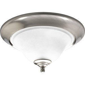 Progress Lighting P3476-09 Close to Ceiling Light, 2-Light, 60W, Brushed Nickel
