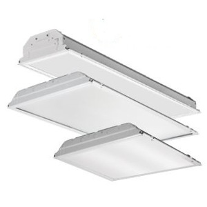 Lithonia Lighting 2GTL4-4400LM-LP840 LED Lay-In Lensed Troffer, 2 x 4, 4000K, 120-277V