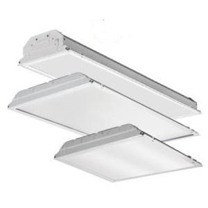 Lithonia Lighting 2GTL2-3300LM-LP840 LED Lay-In Lensed Troffer, 2 x 2, 4000K, 120-277V