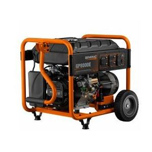 Generac 6954 Generator, Portable, 8kW, 120/240VAC, Gas Engine