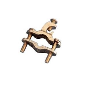 "Erico Cadweld EK17 Bare Wire Ground Clamp, Open Lug, 3/8"" to 1"", Bronze"
