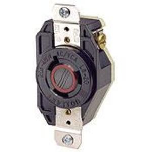 Leviton 2340 Locking Single Receptacle, 20A, 480V, 2P3W