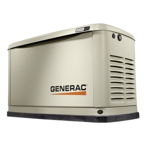 Generac 7038 Generator, Standby, 20kW, 120/240VAC, 100A, 1PH, LCD Display