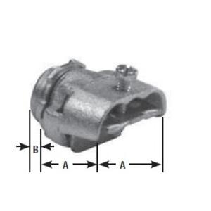 "Appleton 7240V MC/AC/Flex Connector, Type: Duplex, 3/8"", Malleable Iron"