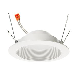 "Juno Lighting 5RLD-G2-06LM-27K-90CRI-120-FRPC-WWH 5"" LED Retrofit Baffle Trim, 600L, 10W, 2700K, 120V, White"