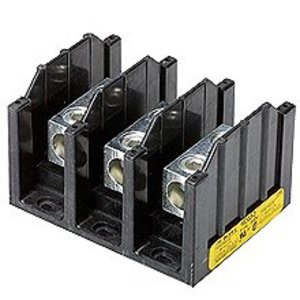 Eaton/Bussmann Series 16323-3 Power Distribution Block, 3-Pole, Single Primary - Multiple Secondary