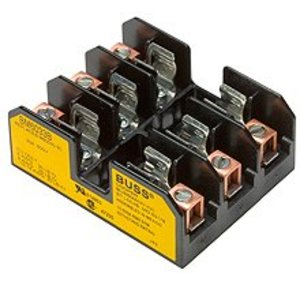 "Eaton/Bussmann Series BM6032B Fuse Block, Type M, 2-Pole, 1/10-30A, 600V, 13/32"" x 1-1/2"""