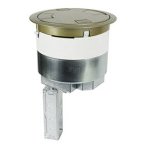 "Wiremold 8ATC2PBZ Poke-Thru, Recessed, Bronze, Diameter: 8"", Depth: 16-1/4"