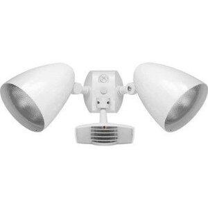 RAB STL110HBW Flood Light, Halogen, Bullet, w/ Motion Sensor, 150W, White
