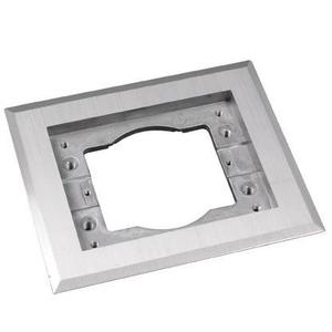 Wiremold 818TCAL Cover Plate Flange, Square, 1-Gang, Aluminum