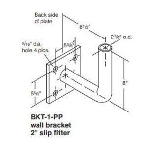 "Holophane BKT1-BZ Wall Bracket, 2"" Slip Fitter, Painted, Bronze"