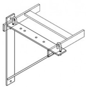 "Chatsworth 11312-712 Runway Triangular Support Bracket, Aluminum, Black, for 6"" - 12"" Runways"
