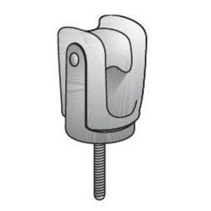 Appleton 1402 Wireholder, Screw Type, Porcelain
