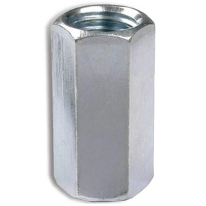 "Bizline R38RC10 Ground Rod Coupler, 3/8"", Steel/Zinc Plated"