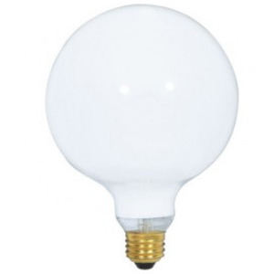 Satco S3003 Incandescent Bulb, G40, 100W, 120V, Clear