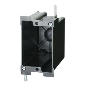 """Allied Moulded P-122OW Switch/Outlet Box, 1-Gang, Depth: 3-3/4"""", Non-Metallic"""
