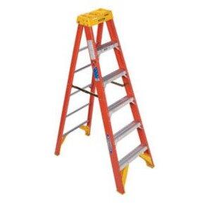 Werner Ladder 6206 Fiberglass Stepladder, 6', 300 lbs