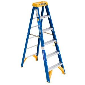 Werner Ladder OBEL06 Job Station Step Ladder, 6', Type IAA, 375 lbs