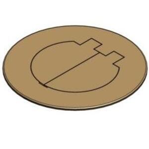 "Carlon E97BR2D Round Cover, Diameter: 5"", Type: Dual Service, Brass"