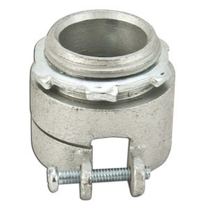 """Appleton 7481V Flex Connector, Type: Squeeze, Non-Insulated, 1/2"""", Malleable"""