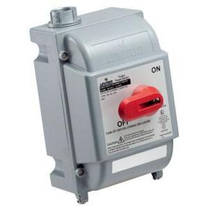 Leviton DS60-AX Safety Disconnect, 60A, 600VAC, 3P, Non-Fused, NEMA 4X, IP67