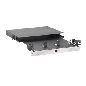 Panduit FRME1U Fiber Enclosure, Rack Mount, for 3 FAP/FMP Adapter Panels, Black