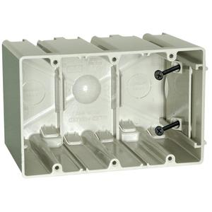 Allied Moulded SB-3 Switch/Outlet Box, 3-Gang, Adjustable