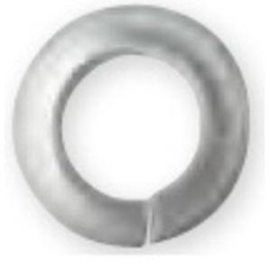 "Bizline R14LW188 Split Lock Washer, 1/4"", Stainless Steel"