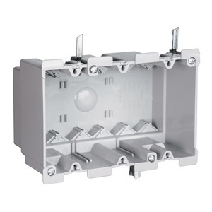 "Pass & Seymour S3-52-W Switch/Outlet Box, 3-Gang, Depth: 3"", Old Work, Non-Metallic"