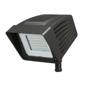 Atlas Lighting Products PFSXW27LED Flood Light, LED, 26.3W, 120-277V, Black