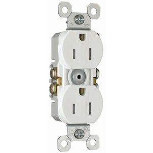 Pass & Seymour 3232-TRW Tamper Resistant Duplex Receptacle, 15A, 125V, White