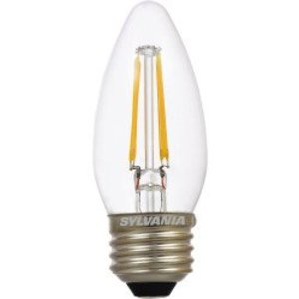 SYLVANIA LED4.5B10BLUNTDIM827FIL 4.5W LED Filament Lamp, 2700K, 450 Lumens, Medium Base