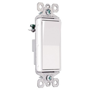 Pass & Seymour TM870-WSL Illuminated Decorator Switch, 15A, White, Lighted when OFF